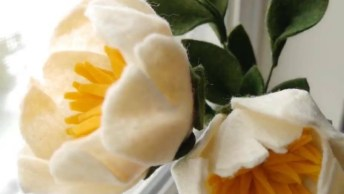 Flores Feitas De Feltro Para Decorar, Olha Só Que Lindas Que Ficam!