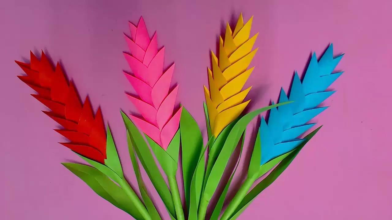 Flores Helicônias de papel, veja como elas ficam lindas
