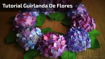 Guirlanda De Flores Com Filtro De Café De Papel, Ficou Linda!
