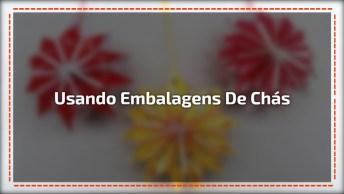 Ideia De Artesanato Para Fazer Com Embalagens De Chás, Confira!