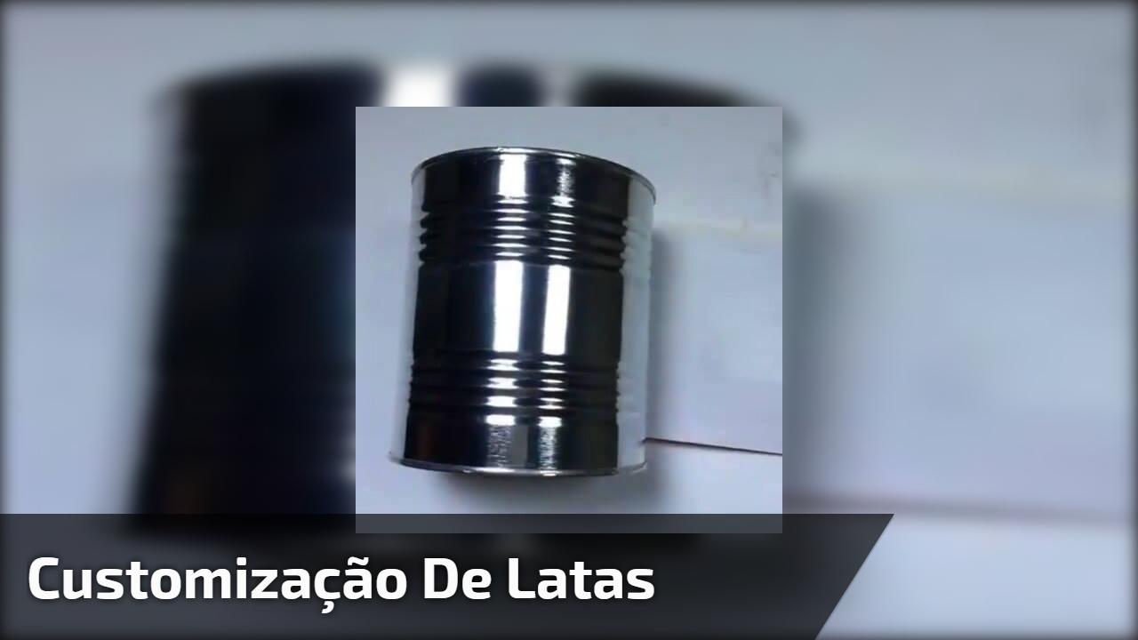 Customização de latas