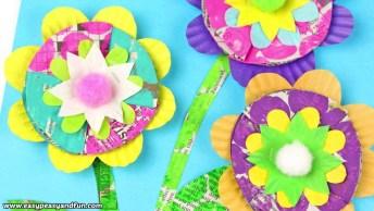Ideia Para Fazer Flores Com Revistas Velhas, Um Lindo Trabalho!