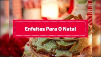 Ideias De Enfeites Para O Natal, Mais Um Vídeo De Artesanato Incrível!