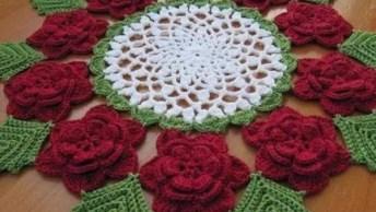 Ideias De Toalhinhas De Mesa Em Crochê, Você Vai Amar Cada Uma Delas!