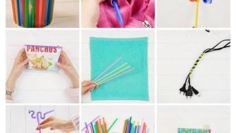 Ideias Para Fazer Com Canudos De Plástico, Dicas Incríveis!