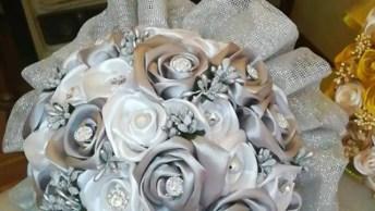 Inspiração De Buque De Noivas Com Flores De Cetim, É Um Mais Lindo Que O Outro!