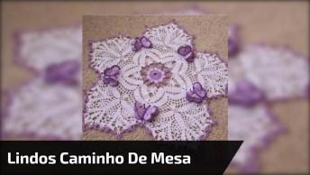 Inspirações Maravilhosas De Caminho De Mesa De Crochê Para Te Inspirar!