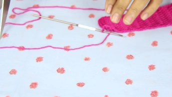 Lacinhos De Crochê, Uma Ideia Diferente Para Fazer Presilhas De Cabelos!