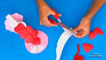 Lembrancinha Para O Dia Das Mães - Uma Cascata De Coração Super Fácil De Fazer!