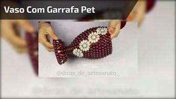 Lindo Vaso Para Enfeite Feito Com Garrafa Pet, Fica Incrível!