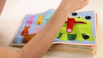 Livro Sensorial Para Criança Feito Com Feltro, Um Vídeo Para Tirar Ideias!