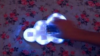 Luminária Em Formato De Nuvem, Perfeita Para Colocar No Quarto De Bebês!