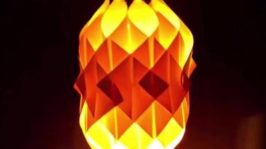 Luminária Feita Com Materiais Reciclados, Fica Linda!