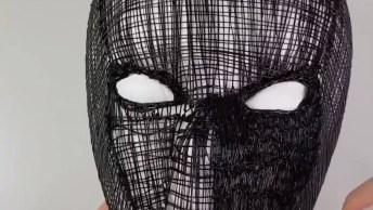 Máscara De Super Herói Feita Com Caneta 3D, Fica Incrível!