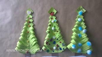 Mini Árvore De Natal Fácil De Fazer, Mais Um Artesanato Simples E Bonito!