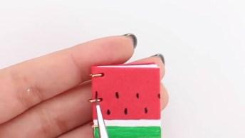 Mini Caderninhos - Aprenda A Fazer Essa Fofura De Artesanato!