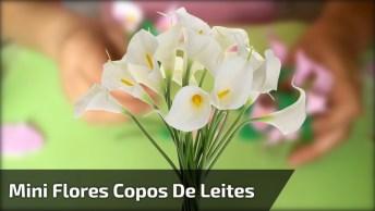 Mini Flores Copos De Leites Feitos Com Eva, Passo A Passo!