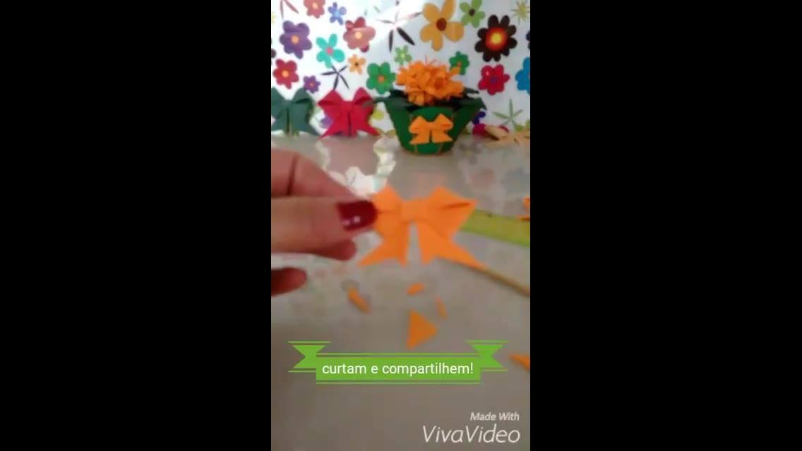 Mini Laço feito de EVA - Uma ideia para enfeitar seus artesanatos!