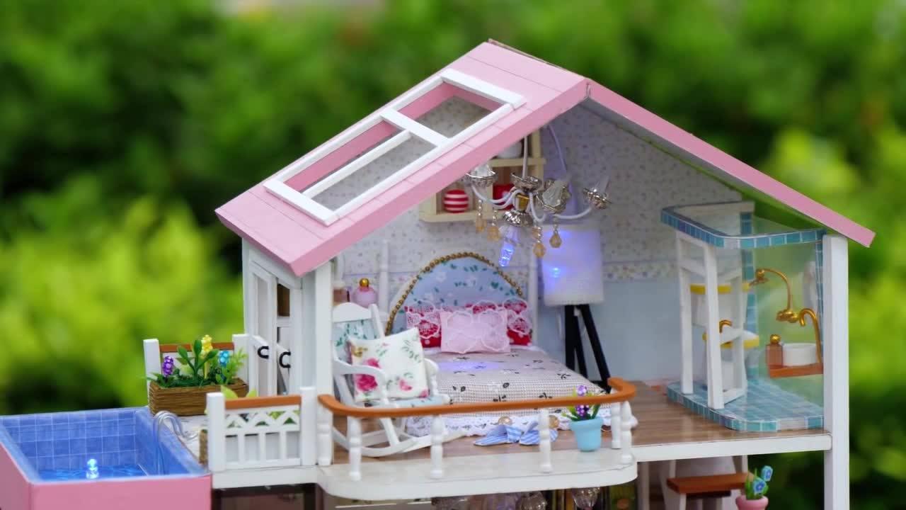Miniatura de casinha de boneca - O resultado desse artesanato é incrível!