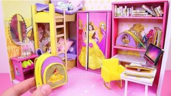 Miniatura De Quarto Com Material Escolar Com Tema De Princesa!