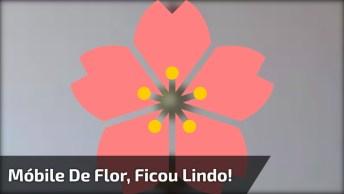 Móbile De Flor, Um Trabalho De Artesanato Incrível, Confira E Compartilhe!