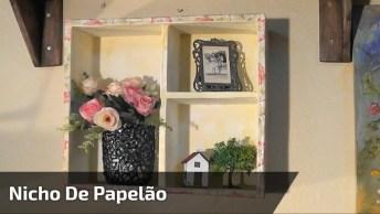 Nicho De Papelão - Um Objeto Lindo E Decorativo, Veja Como Fazê-Lo!