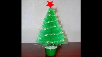 O Natal Chegou! Que Tal Fazer Uma Linda Árvore Usando Garrafa Pet!