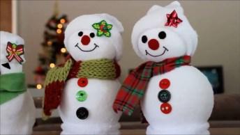 O Natal Esta Chegando Que Tal Fazer Estes Lindos Bonecos De Neve!