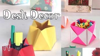 Objetos De Decoração Feito Com Dobraduras E Artesanato, Ficam Todos Lindos!