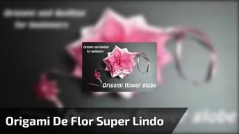 Origami De Flor Para Pendurar, Fica Super Lindo E É Fácil De Fazer!