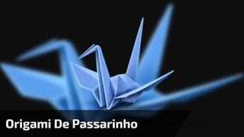Origami De Passarinho, Olha Só Esta Linda Arte Em Apenas 15 Segundos!