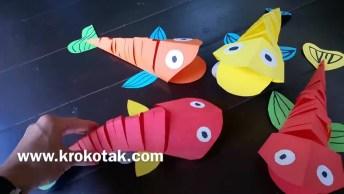 Origami De Peixe, Uma Ideia Bem Legal E Fácil De Fazer, Confira!