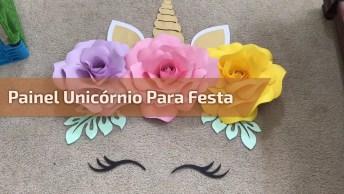 Painel Unicórnio Para Festa De Aniversário, Simples E Lindo!