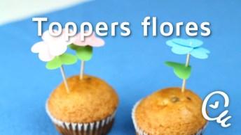 Palitinho De Flores Para Enfeitar Seus Bolinhos, Ficam Lindas E São Super Fáceis