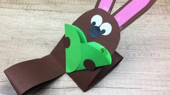 Pascoa Chegando É Olha Só Que Lindo Coelhinho Para As Crianças Fazerem!