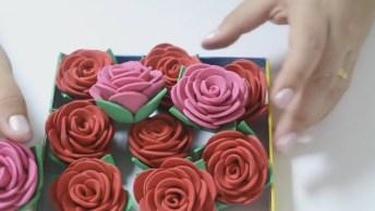 Passo A Passo De Como Fazer Rosas Em Eva, Um Artesanato Bem Fácil!