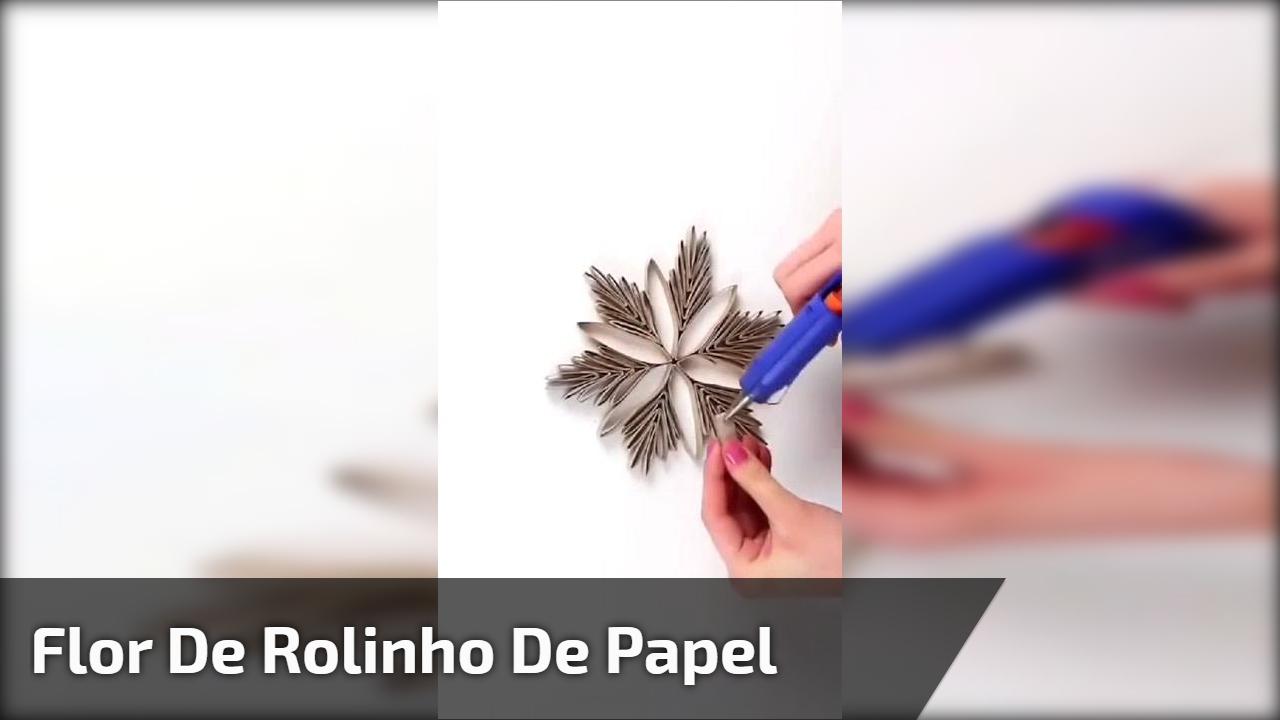 Flor de rolinho de papel