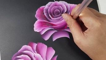 Pintura Em Tela Preta, O Resultado É Fantástico, Vale A Pena Conferir!