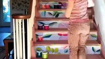 Pintura Na Escada, Para Deixar A Sua Casa Ainda Mais Alegre!