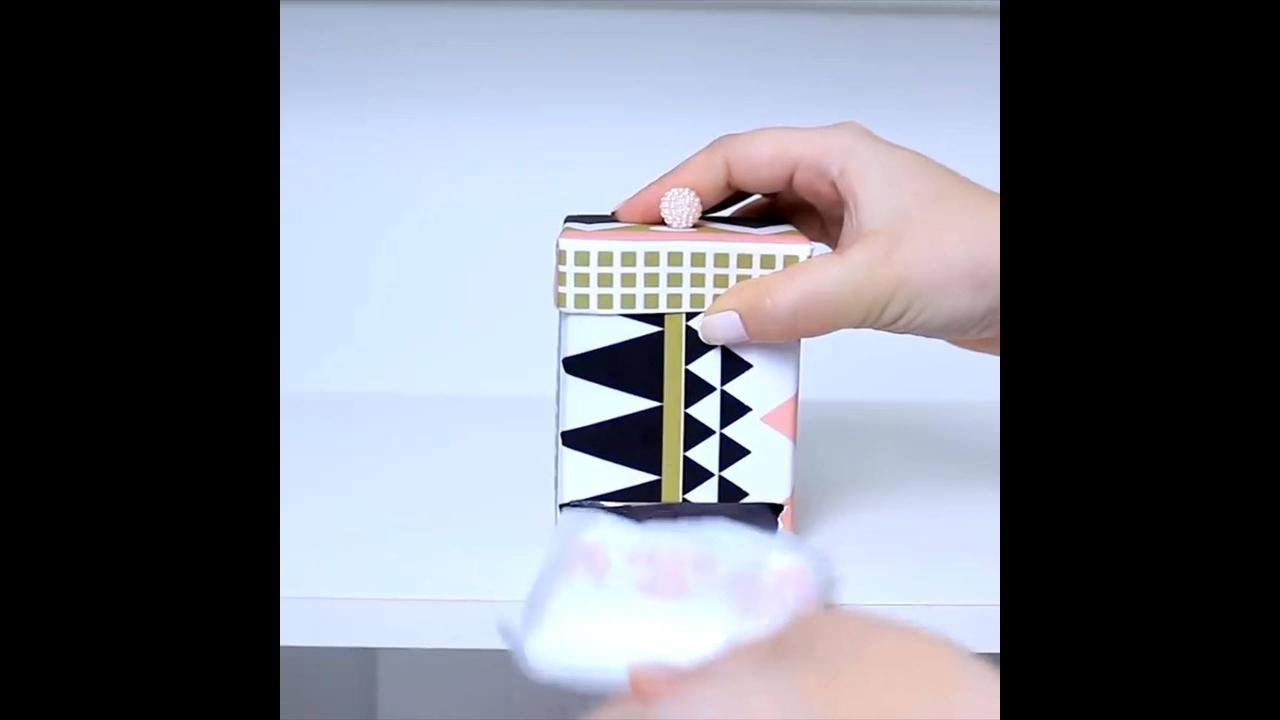 Porta-absorventes de artesanatos