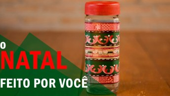 Pote De Natal, Faça Você Mesmo E Reutilize Potes De Azeitonas, Maioneses. . .