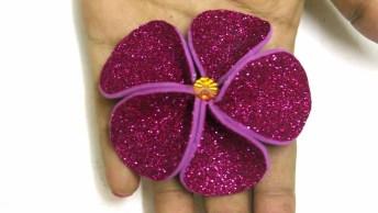 Presente Dia Das Mães Caseiro - Flor De Eva Com Glitter!