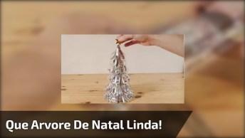 Que Árvore Linda! Veja Que Boa Ideia Para Se Fazer No Natal Para Os Amigos!