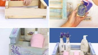 Reaproveitando Uma Caixa De Feira Para Organizar Seu Banheiro!