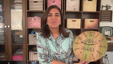 Relógio Feito Por Você, Para Presentar Alguém Ou Fazer Para Você Mesma!