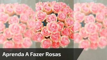 Rosa Artesanato Do Jeito Mais Fácil De Fazer, Vale A Pena Conferir!