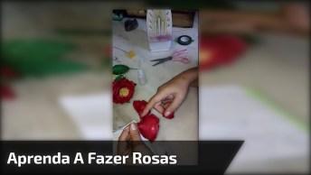Rosa Vermelha Para O Dia Das Mães, Um Artesanato Muito Lindo!