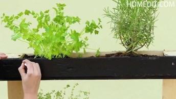 Transformando Palete Em Suporte Para Plantar, Olha Só Que Legal!
