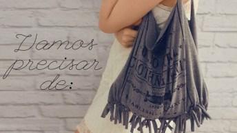 Transforme Uma Camiseta Velha Em Uma Linda Bolsa, Olha Só Que Legal!