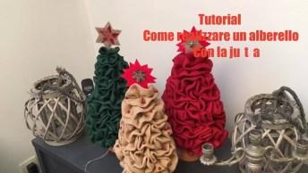 Tutorial De Árvore De Natal De Tecido Lindinha Para Decorar Sua Casa!
